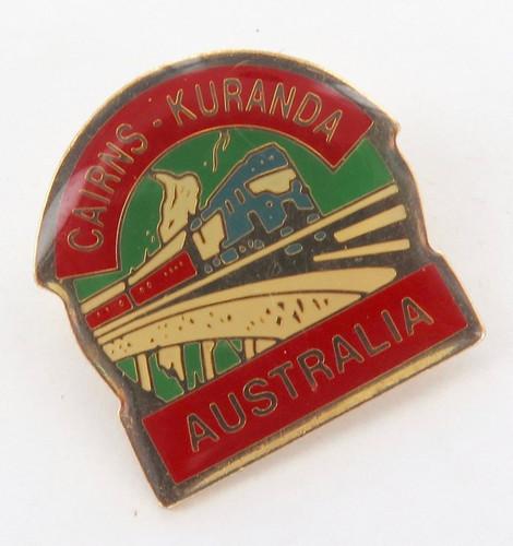Vintage railways badge 'Cairns - Kuranda, Australia'