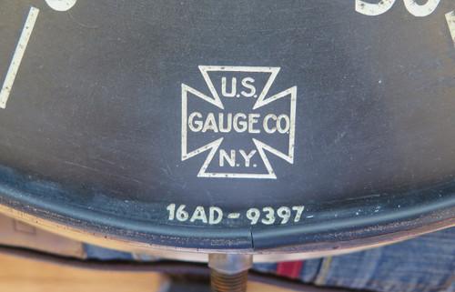 SUPER RARE 1940S WWII HUGE SUBMARINE BRASS DEPTH GAUGE