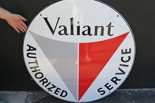 BRISBANE VINTAGE OLD SIGN DEALER 1960s VALIANT SUPER RARE NEW OLD STOCK LARGE ENAMEL ADVERTISING SIGN