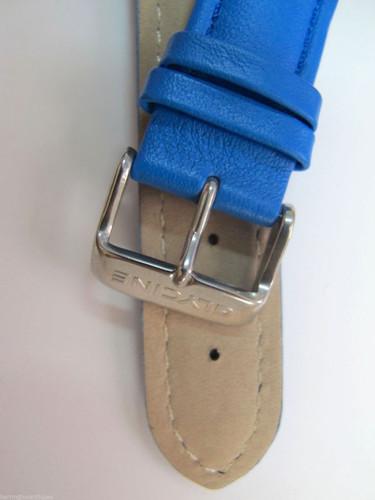 22MM HIGH GRADE BLUE LEATHER STRAP & STEEL BUCKLE BY GLYCINE