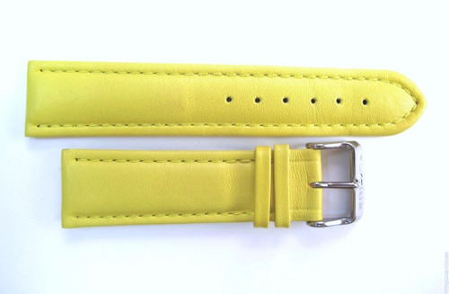 22MM GENUINE GLYCINE YELLOW LEATHER STRAP WITH LEATHER INNER & STEEL BUCKLE BY GLYCINE  BRISBANE Harrington Vintage Watch Strap Woolloongabba