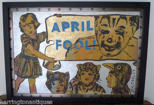 "DAVID BROMLEY ACRYLIC ""APRIL FOOL"""