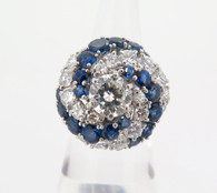 AN ESTATE CLASSIC 18CT 2.78CT DIAMOND & SAPPHIRE COCKTAIL RING VAL $25440 buy sell brisbane second hand jewellery