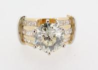 ESTATE 5.10 CTTW OLD EUROPEAN CUT SOLITARE DIAMOND RING SI1 CLAR- VAL $45500 BUY SELL DIAMONDS BRISBANE