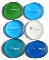 The Mermaid's Message Replica Sea Glass Stones, set of six, Set I
