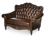 Brown Victorian Style Loveseat