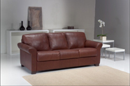 Red contemporary sofa
