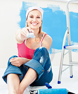 Handy Woman with Paintbrush