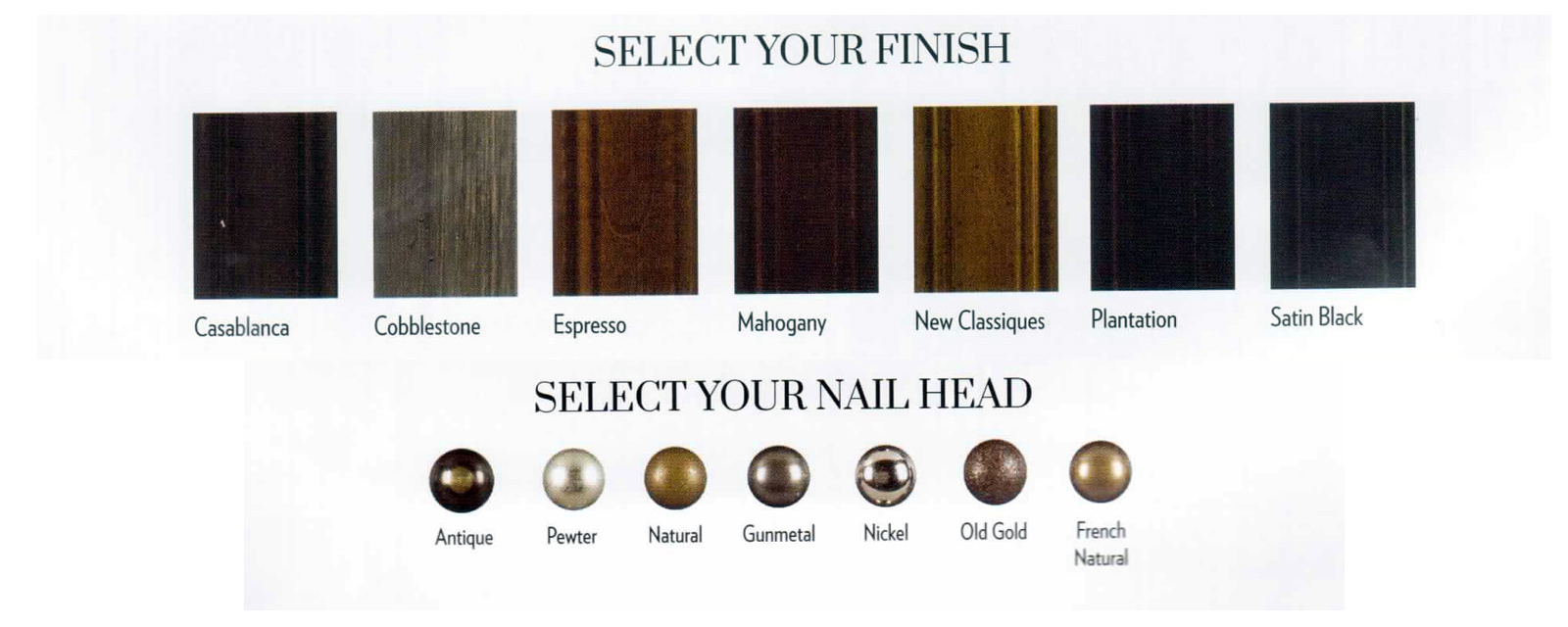 Pick your wood and nail options