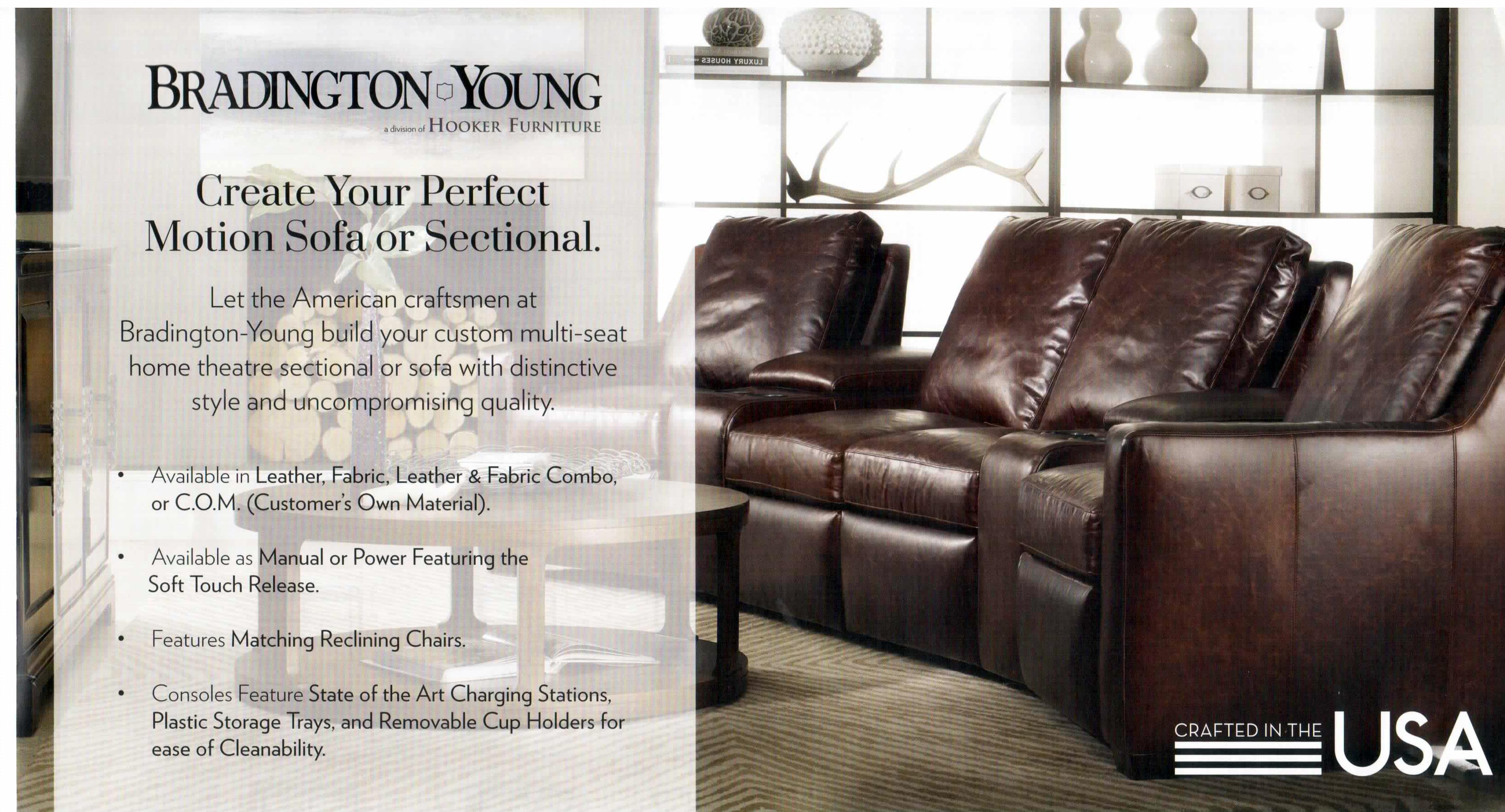 Bradington-Young 900 series luxury reclining furniture