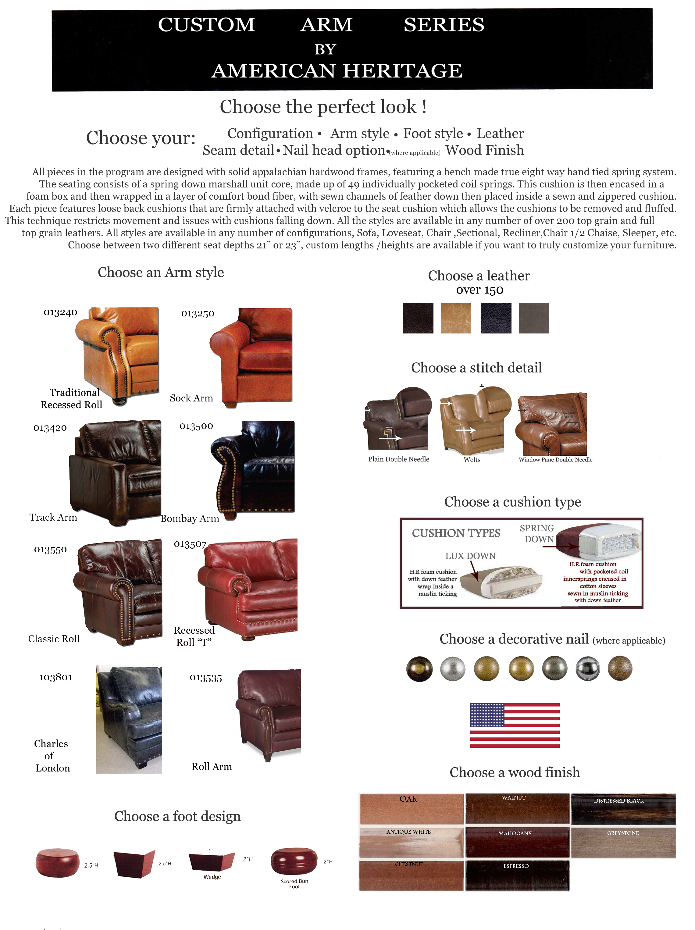 American Heritage custom arm series