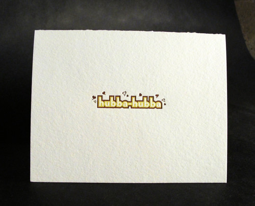 Hubba-Hubba - Letterpress Love Card