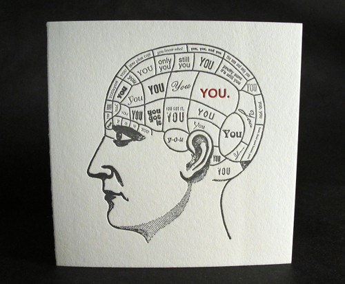 Thinking of you - Letterpress Love Card