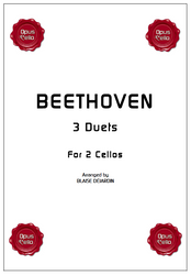 Ludwig van BEETHOVEN, 3 Duets for 2 Cellos