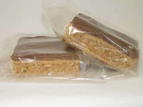 Peanut Butter Krispy Bars with White and Dark Chocolate