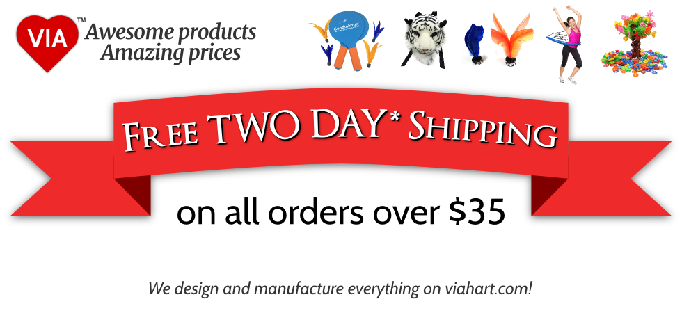 Free TWO DAY Shipping on all orders over $35
