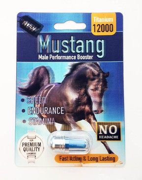 MUSTANG 12000  - Fast Acting Male Enhancement