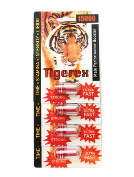 TIGEREX 15000  - Fast Acting Male Enhancement (4-pack)