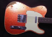 2015 Fender Custom Shop 1960 Telecaster Heavy Relic Orange Sparkle