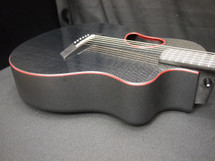 McPherson Kevin Michael Touring Glossy Black Carbon Top and RED Binding