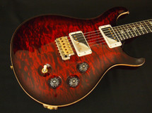PRS DGT Custom Color Fire Red Quilt 10 Top