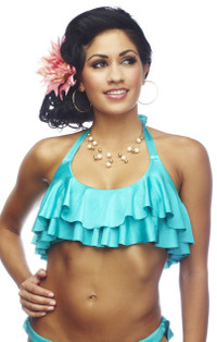 Rumba Ruffles Crop Top - Mar