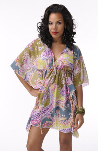 Paisley Adjustable Tunic Cover-Up