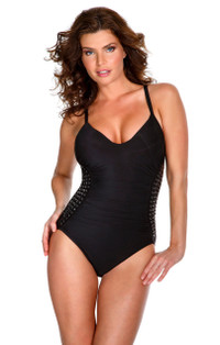 Stud Muffin Black Lauren One-Piece
