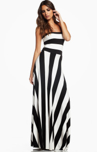 Maxi Convertible Dress/Skirt - Black/White