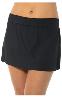 Jersey Skirted Bottom - Black