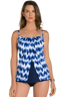 Midnight Sound Waves Jubilee Tankini Top