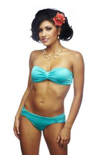 Salsa Shirred Bandeau Bikini
