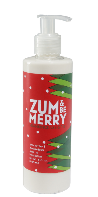 Zum and Be Merry Frankincense and Fir Body Lotion Indigo Wild 8oz