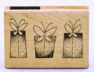 Flutter Box Dots Wood Mounted Rubber Stamp Stampendous
