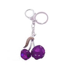 Purple Cherry Keyring