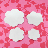 2mm Chunky Aluminium Flower Stamping Tag Blank - Select Size