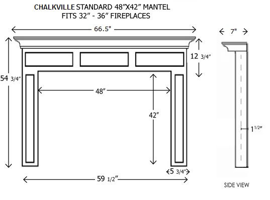 Wood Mantels for Fireplaces | Standard Size Chalkville