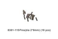DHK 8381-115 Pins (dia 2*8mm) (16 pcs)