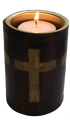 "Wooden Bamboo Charcoal / Cone Burner 3"" Cross"