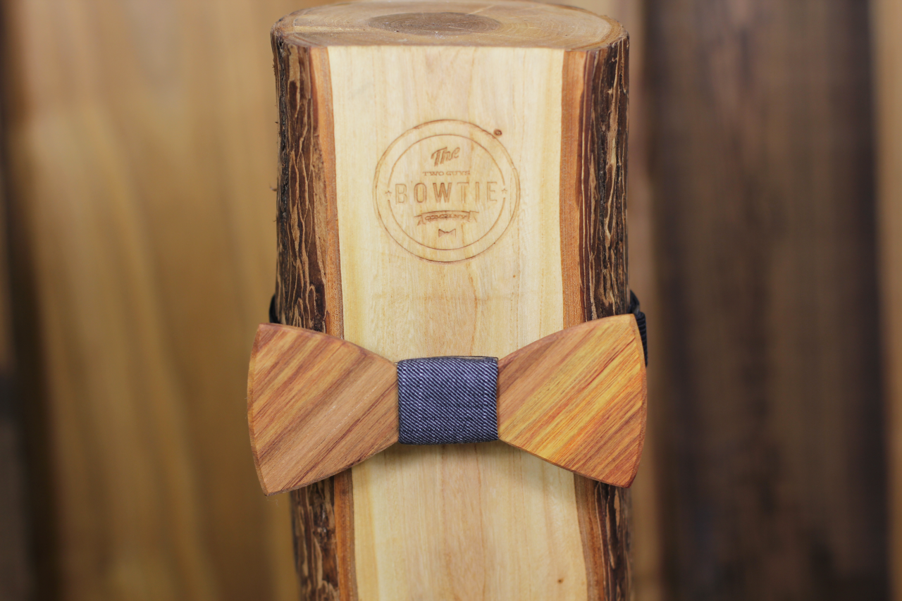 hardwood feature canary wood two guys bow ties