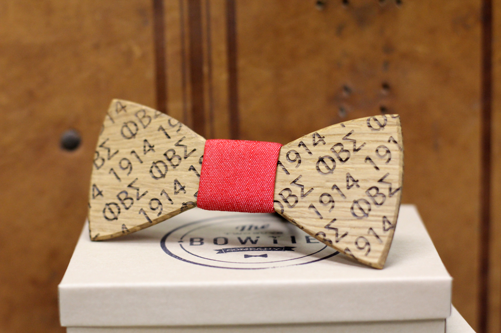 Front Etched Custom Bow Tie.