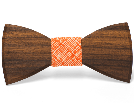 Unique handcrafted wooden bow tie made by Two Guys Bow Ties Co.