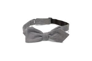Blue Yarn Dyed Linen- Bow Tie