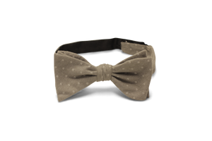 Heather Gray White Pin Dot - Bow Tie