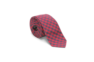 Navy and Red Buffalo Plaid - Neck Tie