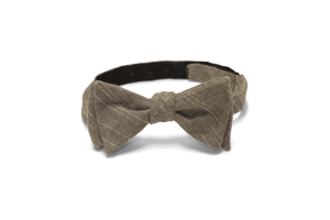 Tan Chambray - Bow Tie
