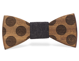 Sapele Bowtie with Polka Dots & Custom Fraternity Letters