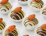 Delicious football cake balls