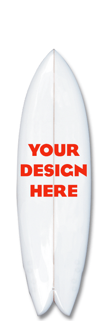 Your customized design in your surfboard.