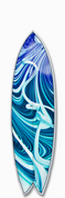 Surfboard graphic warped design